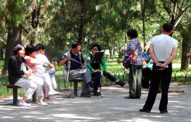 Community spirit in the park