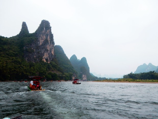 Rafting on the Li River