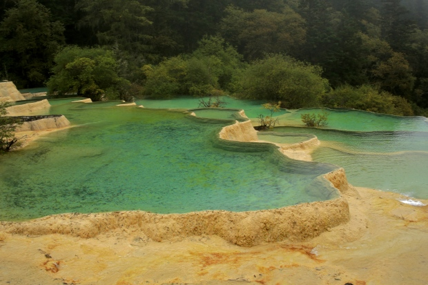 Huanglong National Park - The yellow dragon's scales