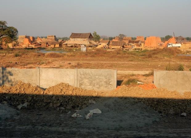 A building site not far outside Yangon